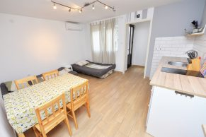 Apartments Novalja - Accommodation unit - Summer residence Goga - One bedroom apartment - Kitchen, dining and living room with beds for 2 people