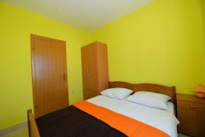 Apartments Novalja - Accommodation unit - Summer residence Pandora - One bedroom apartment - Bedroom - 01a